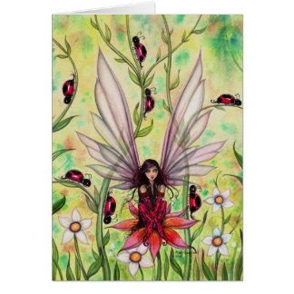 Ejemplo de hadas del arte de la fantasía de la tarjeta de felicitación