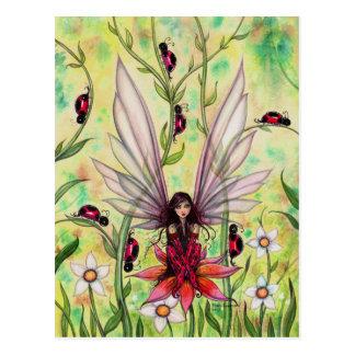 Ejemplo de hadas del arte de la fantasía de la tarjeta postal