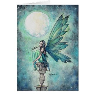 Ejemplo de hadas ideal del arte de la fantasía del tarjeta de felicitación