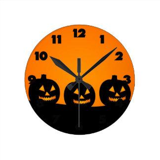 Ejemplo de Halloween Reloj Redondo Mediano