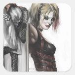 Ejemplo de Harley Quinn Pegatina Cuadrada
