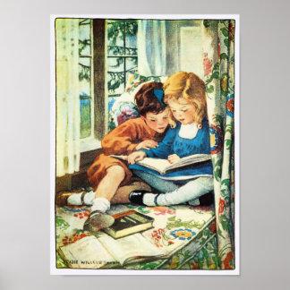 Ejemplo de Jessie Willcox Smith de las Felices Poster
