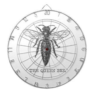 Ejemplo de la abeja reina del vintage tablero dardos