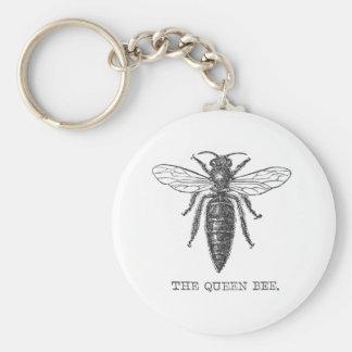 Ejemplo de la abeja reina del vintage llavero redondo tipo pin