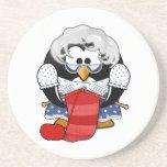 Ejemplo de la animación de la abuela del pingüino posavasos personalizados