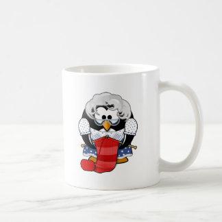 Ejemplo de la animación de la abuela del pingüino taza clásica