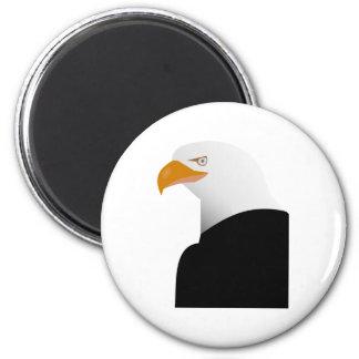 Ejemplo de la animación del águila calva imán redondo 5 cm