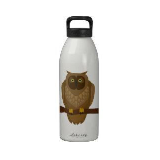 Ejemplo de la animación del búho de Brown Botella De Agua