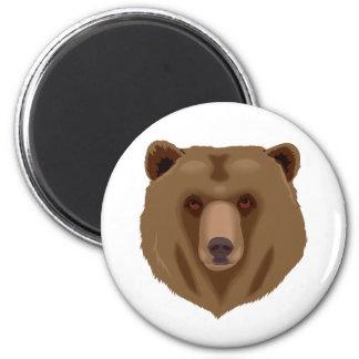 Ejemplo de la animación del oso de Brown Imán Redondo 5 Cm