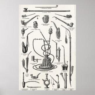 Ejemplo de la antigüedad de la cachimba de los tub poster