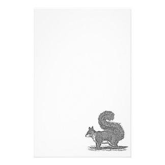 Ejemplo de la ardilla del vintage - ardillas 1800 papeleria de diseño