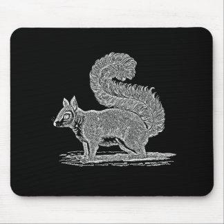 Ejemplo de la ardilla del vintage - ardillas 1800' tapete de raton