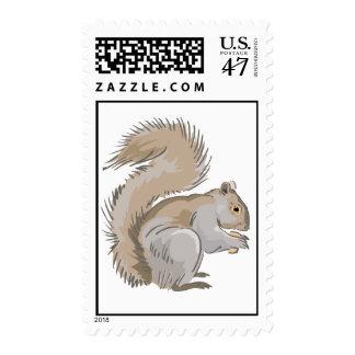 Ejemplo de la ardilla timbre postal