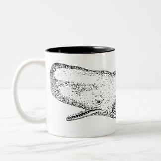 Ejemplo de la ballena de esperma taza de dos tonos