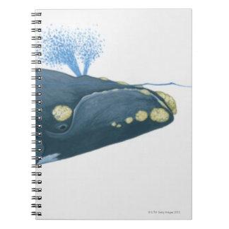 Ejemplo de la ballena derecha de North Pacific Libro De Apuntes Con Espiral