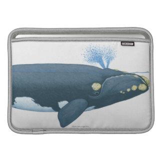Ejemplo de la ballena derecha de North Pacific Funda Macbook Air