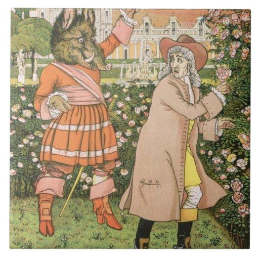 Ejemplo de la belleza y de la bestia, 1901 (colo teja cerámica