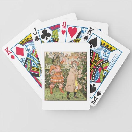 Ejemplo de la belleza y de la bestia, 1901 (colo cartas de juego