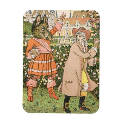 Ejemplo de la belleza y de la bestia, 1901 (colo iman rectangular