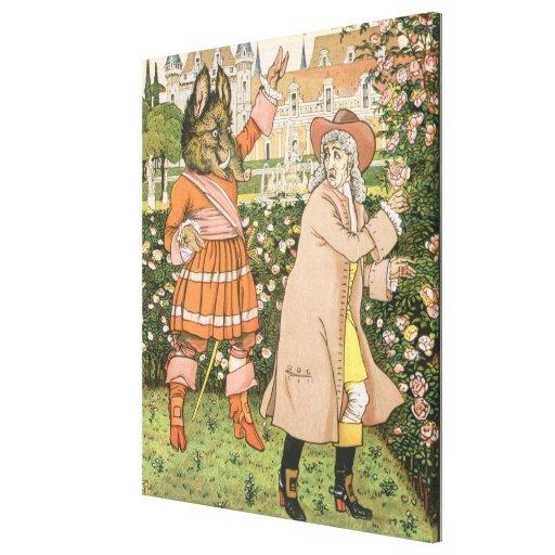 Ejemplo de la belleza y de la bestia, 1901 (colo impresion en lona