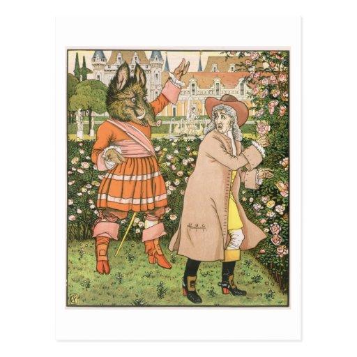 Ejemplo de la belleza y de la bestia, 1901 (colo tarjetas postales