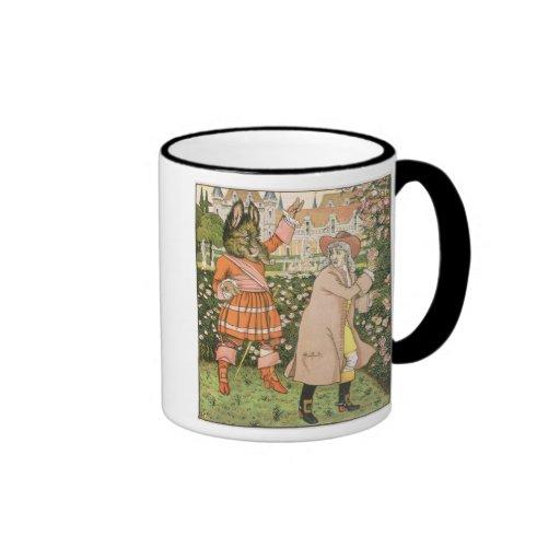 Ejemplo de la belleza y de la bestia, 1901 (colo taza de café