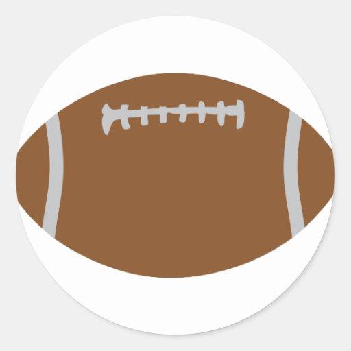 ejemplo de la bola de rugbi del fútbol americano pegatina redonda
