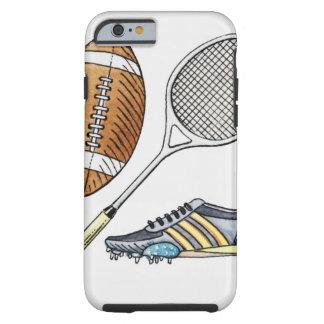 Ejemplo de la bola de rugbi, estafa de tenis, funda de iPhone 6 tough