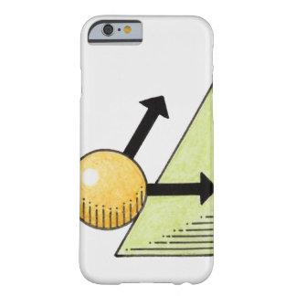 Ejemplo de la bola que baja una cuesta, flechas funda de iPhone 6 barely there