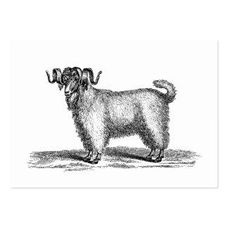 Ejemplo de la cabra del angora del vintage - cabra tarjetas de visita grandes