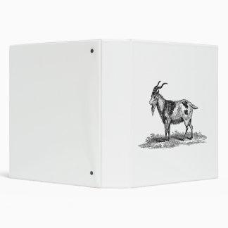 """Ejemplo de la cabra nacional del vintage - cabras  carpeta 1 1/2"""""""