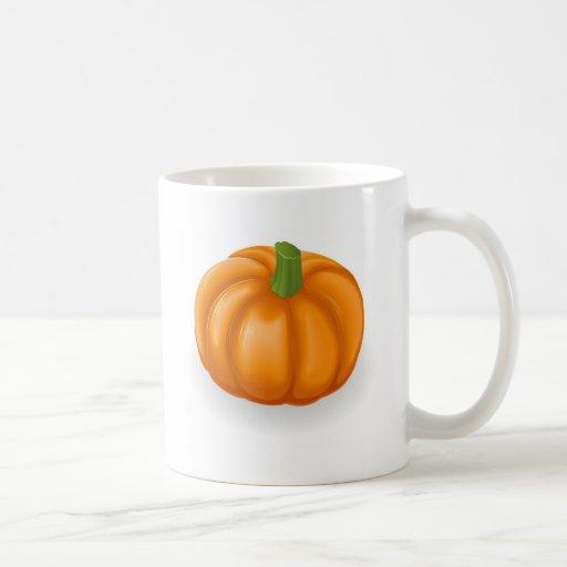 Ejemplo de la calabaza taza básica blanca