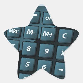 Ejemplo de la calculadora pegatinas forma de estrella personalizadas