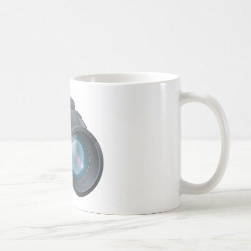 Ejemplo de la cámara del dibujo animado taza de café