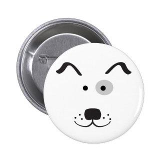 Ejemplo de la cara del perro del dibujo animado pin