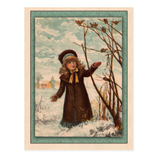 Ejemplo de la cartilla de los niños del vintage postales