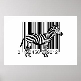 Ejemplo de la cebra del código de barras póster