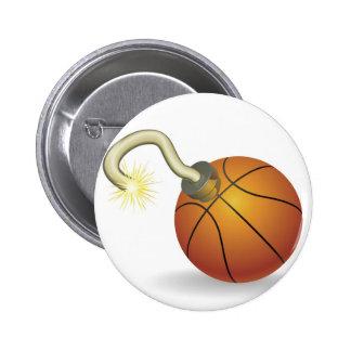 Ejemplo de la cuenta descendiente del baloncesto pin