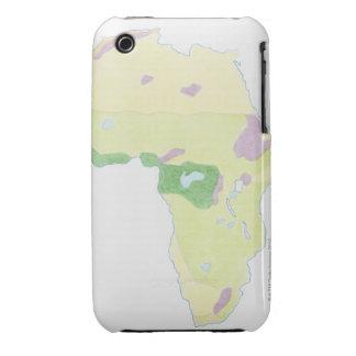 Ejemplo de la demostración simple del mapa del iPhone 3 Case-Mate cárcasa