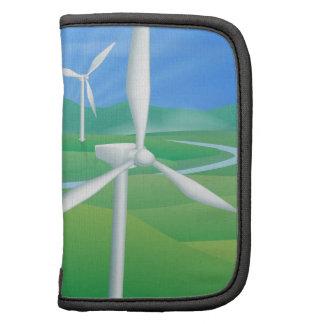 Ejemplo de la energía de la energía eólica planificadores