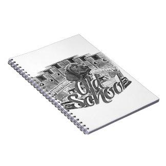 Ejemplo de la escuela vieja spiral notebook