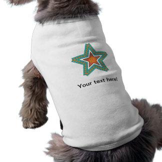 Ejemplo de la estrella doble playera sin mangas para perro