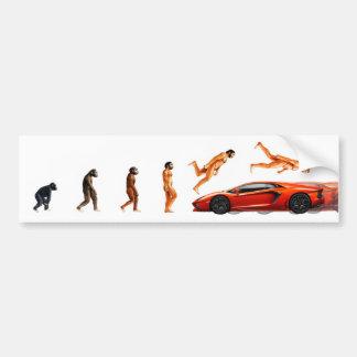 Ejemplo de la evolución humana y de los coches