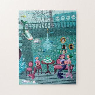 Ejemplo de la fiesta del té de las sirenas puzzle con fotos