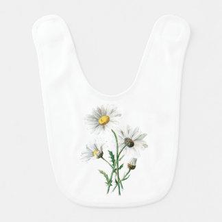 Ejemplo de la flor de la margarita blanca del babero