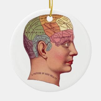 Ejemplo de la función del cerebro del vintage ornamento para arbol de navidad