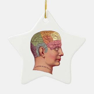Ejemplo de la función del cerebro del vintage ornamente de reyes