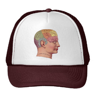 Ejemplo de la función del cerebro del vintage gorros bordados