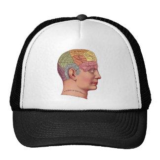 Ejemplo de la función del cerebro del vintage gorras de camionero