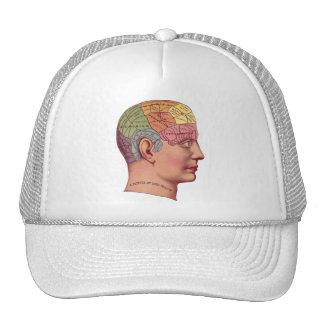Ejemplo de la función del cerebro del vintage gorros